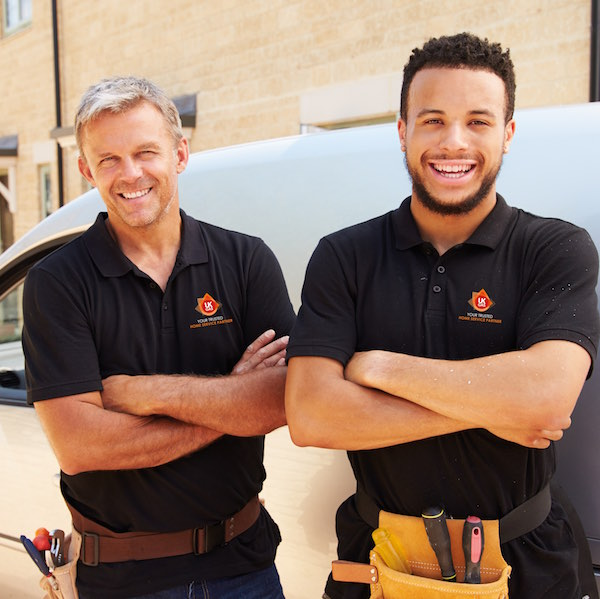 Two members of the UK Gas team